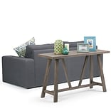 Simpli Home Dylan Console Sofa Table in Driftwood (3AXCDLN-05)