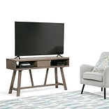 Simpli Home Dylan TV Media Stand in Driftwood (3AXCDLN-06)