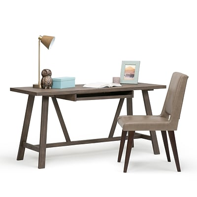 Simpli Home Dylan Desk in Driftwood (3AXCDLN-08)