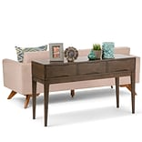 Simpli Home Harper Console Sofa Table in Walnut Brown (3AXCHRP-03)