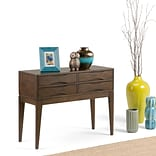 Simpli Home Harper Hallway Console Table in Walnut Brown (3AXCHRP-04)