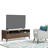 Simpli Home Harper TV Media Stand in Walnut Brown (3AXCHRP-11)