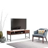 Simpli Home Riordan TV Media Stand in Russet Brown (3AXCRDN-05)