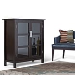 Simpli Home Kitchener Medium Storage Cabinet in Dark Walnut Brown (3AXCRGL007)