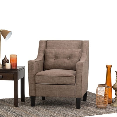 Simpli Home Ashland Club Chair in Fawn Brown (AXCCHR-002-BRL)
