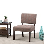 Simpli Home Virginia Accent Chair in Mid Century Patterened Brown (AXCCHR-005-3)