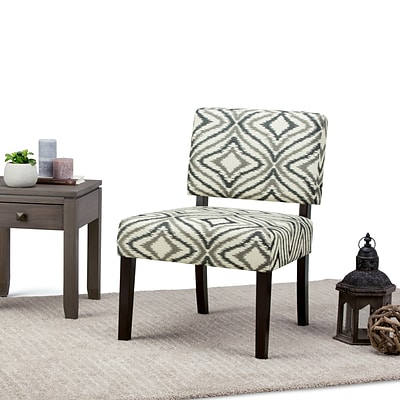 Simpli Home Virginia Accent Chair in Grey Patterned (AXCCHR-005-4)