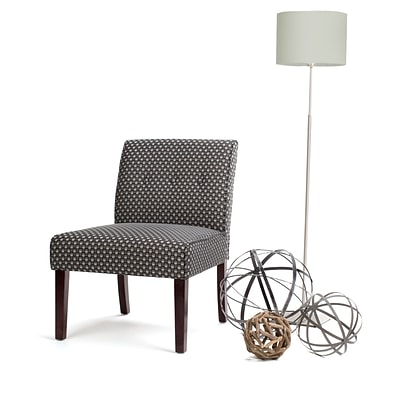 Simpli Home Sallybrook Accent Chair in Grey Patterned (AXCCHR-006-G)