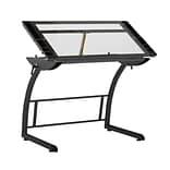 "Studio Designs 40.75""W x 29""D Triflex Drawing Table Charcoal and Clear Glass (10088)"