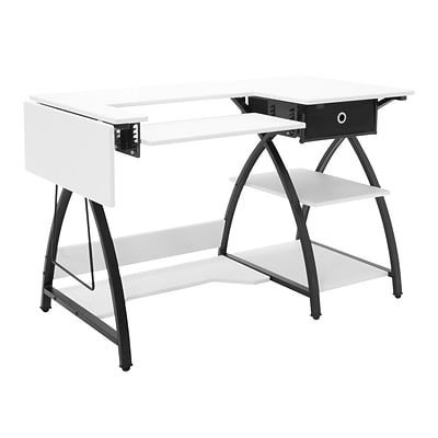 Studio Designs 47.25 x 23.5 Comet Sewing Desk, Black and White (13333)