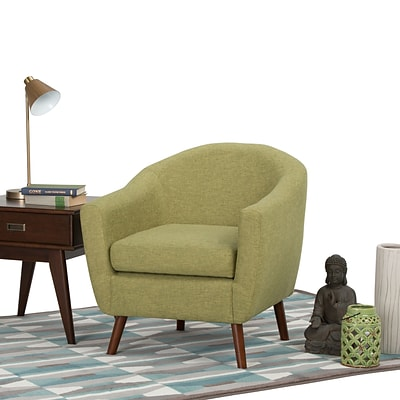 Simpli Home Roundstone Tub Chair in Acid Green (AXCTUB-007-AGL)