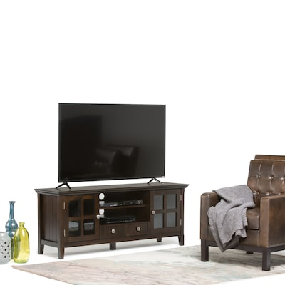 """Simpli Home Acadian 60"""" Tv Media Stand In Tobacco Brown (axwell3 005 60)"""