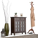 Simpli Home Acadian Entryway Storage Cabinet in Tobacco Brown (AXWELL3-013)
