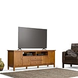 Simpli Home Warm Shaker 72 TV Media Stand in Honey Brown (AXWSH003-72)