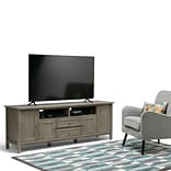 Simpli Home Warm Shaker 72 TV Media Stand in Distressed Grey (AXWSH003-72-GR)