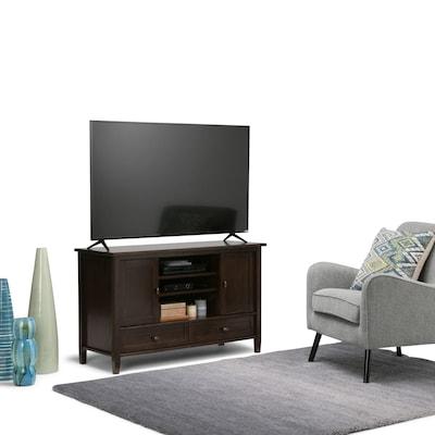 Simpli Home Warm Shaker Tv Media Stand In Tobacco Brown (axwsh004 Tb)