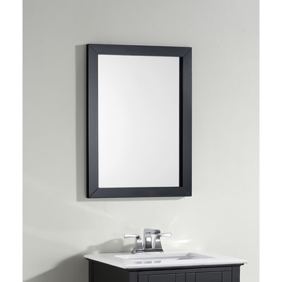 Simpli Home Winston 22 x 30 Bath Vanity Décor Mirror in Black (NL-WINSTON-BL-M-3A)