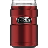 Thermos 10-Ounce Stainless Steel Tumbler with 360 degrees Drink Lid, Cranberry (SK1500CR4)
