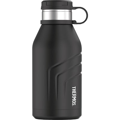 Thermos 32-Ounce Bottle with Screw-top Lid, Black (TS4800BK4)