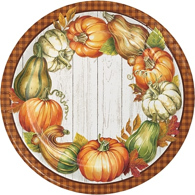 Creative Converting Harvest Plenty Paper Plates, 9 diameter, 8 pack (324045)