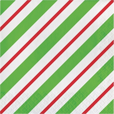 Creative Converting Peppermint Party Napkins, 6.5 x 6.5, 16 pack (324153)
