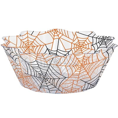 Creative Converting Spiderwebs Fluted Bowl, 8 diameter (324368)