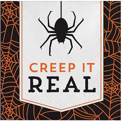 Creative Converting Creep it Real Halloween Beverage Napkins, 5 x 5, 16 pack (324003)