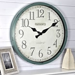 FirsTime Bellamy 24H Aged Teal Wall Clock (10065)