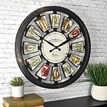 FirsTime Palette Plaques 20H Multicolor Wall Clock (50079)