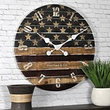 FirsTime Old Glory 18H Multicolored Wall Clock (99675)