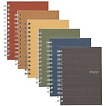 Mead Subject Notebooks, 5 x 7, College Ruled, 80 Sheets, Assorted Colors (MEA45186)
