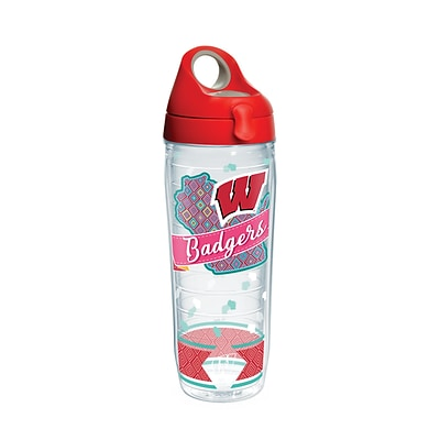Tervis NCAA Wisconsin Badgers Class 24 oz. Water Bottle with Lid (888633617921)
