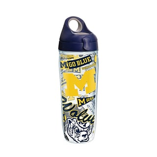 Tervis NCAA Michigan Wolverines All Over 24 oz. Water Bottle with Lid (888633644194)
