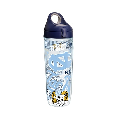 Tervis NCAA North Carolina Tar Heels All Over 24 oz. Water Bottle with Lid (888633654780)