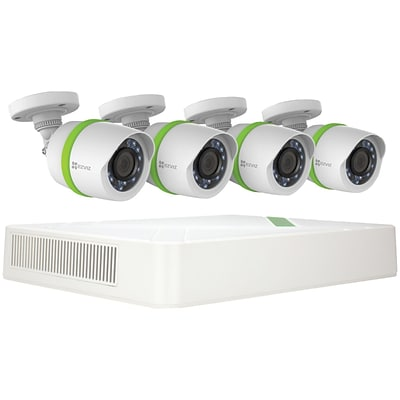 EZVIZ BD-2824B1 8-Channel 1080p Home Security System with 1TB Hard Drive & 4 Weatherproof 1080p Bullet Cameras
