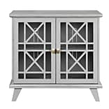 Walker Edison 32 Gwen Fretwork Accent Console Cabinet - Gray (SP32FWAGY)