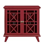 Walker Edison 32 Gwen Fretwork Accent Console Cabinet - Red (SP32FWARD)