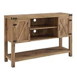 Walker Edison 52 Barn Door Buffet Table Console TV Stand - Barnwood (SP52BD4CBW)