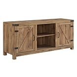 Walker Edison 58 Barn Door TV Stand with Side Doors - Barnwood (SP58BDSDBW)