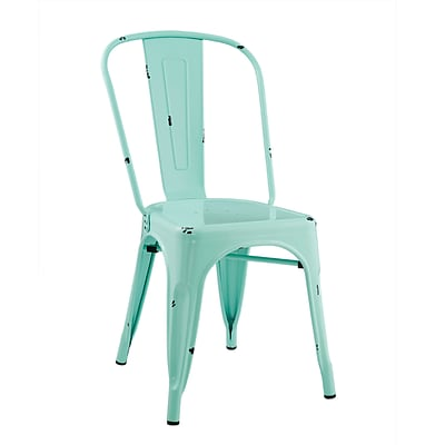 Walker Edison Stackable Metal Cafe Bistro Chair - Mint (SPH33MCMT)