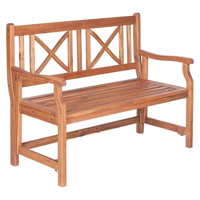Walker Edison 48 Acacia Wood Folding Bench, Brown (SPW48FBBR)