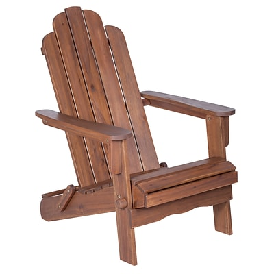 Walker Edison Acacia Adirondack Chair - Dark Brown (SPWACDB)