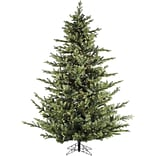 Fraser Hill Farm 9 Ft. Foxtail Pine Christmas Tree with Multi-Color LED String Lighting (FFFX090-6GR