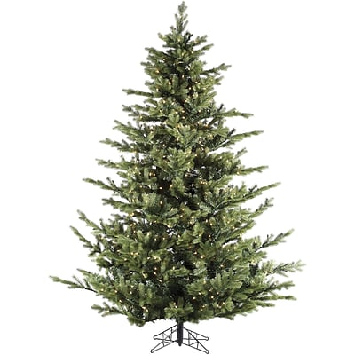 Fraser Hill Farm 9 Ft. Foxtail Pine Christmas Tree with Multi-Color LED String Lighting (FFFX090-6GR)