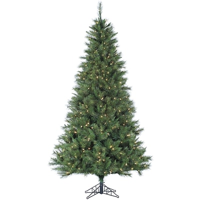 Fraser Hill Farm 6.5 Ft. Canyon Pine Christmas Tree with Clear LED Lighting (FFCM065-5GR)