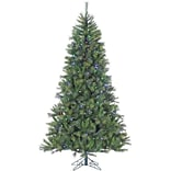 Fraser Hill Farm 9 Ft. Canyon Pine Christmas Tree with Multi-Color LED String Lighting (FFCM090-6GR)