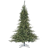 Fraser Hill Farm 7.5 Ft. Noble Fir Pine Christmas Tree with Multi-Color LED String Lighting (FFNF075