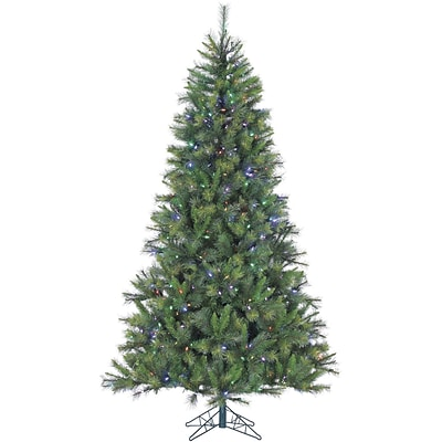 Fraser Hill Farm 12 Ft. Canyon Pine Christmas Tree with Multi-Color LED String Lighting (FFCM012-6GR)
