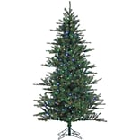 Fraser Hill Farm 10 Ft. Southern Peace Pine Christmas Tree with Multi-Color LED String Lighting (FFS