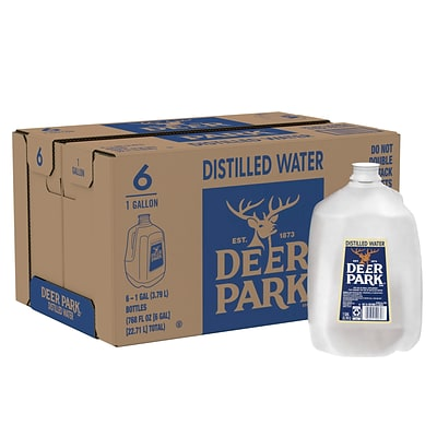 Deer Park Distilled Water, 1-Gallon Plastic Jugs, 6/Carton (11475171)